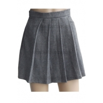 Slytherin Light Grey Cosplay Wool Skirt from Harry Potter for Halloween and Christmas