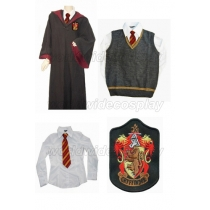 Gryffindor Cosplay Robe Vest Shirt Necktie from Harry Potter Free Shipping Custom Made for Halloween and Christmas