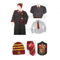 Gryffindor Cosplay Robe Sweater Shirt Necktie Hat from Harry Potter Free Shipping Custom Made for Halloween and Christmas