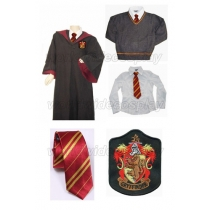 Gryffindor Cosplay Robe Sweater Shirt Necktie from Harry Potter Free Shipping Custom Made for Halloween and Christmas