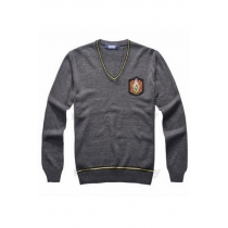 Hufflepuff Cedric Diggory Dark Grey Cosplay Sweater with Badge from Harry Potter Free Shipping for Halloween and Christmas