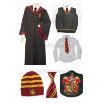 Gryfindor Cosplay Robe Vest Shirt Necktie Hat from Harry Potter Free Shipping