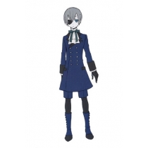 Black Butler Kuroshitsuji Ceil Phantomhive Cosplay Costume Free Shipping for Halloween and Christmas