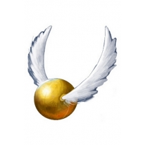 Golden Snitch Cosplay Tatoo in Harry Potter Quidditch Game for Halloween and Christmas