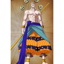 Free Shipping One Piece Enel Cosplay Costume Custom Made for Halloween and Christmas