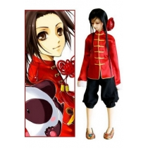 Axis Powers Hetalia China Wang Yao Cosplay Costume Free Shipping for Halloween and Christmas