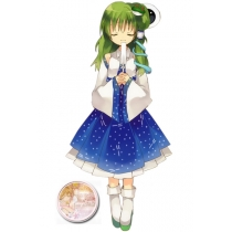Kochiya Sanae Cosplay Costume and Wig from Touhou Project Free Shipping for Halloween and Christmas