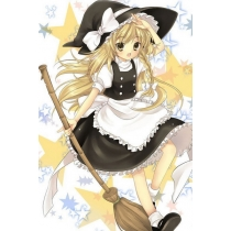 Free Shipping Touhou Project Marisa Kirisame Cosplay Costume for Halloween and Christmas