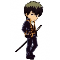 Free Shipping Gintama Hijikata Toushirou Shinsengumi Cosplay Uniform for Halloween and Christmas