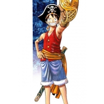 One Piece Monkey D. Luffy Cosplay Costume Free Shipping for Halloween and Christmas