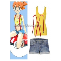 Pokemon Misty Cosplay Costume Free Shipping for Halloween and Christmas