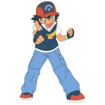 Pokemon Ash Ketchum Blue And Yellow Cosplay Costume Free Shipping for Halloween and Christmas