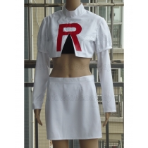 Pokemon Team Rocket Jessie Cosplay Costume Free Shipping