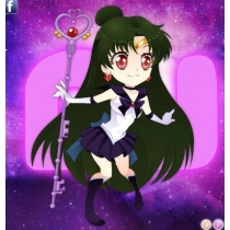 Sailor Moon Meiou Setsuna Cosplay Costume Free Shipping for Halloween and Christmas