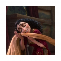 Tangled Rapunzel Mother Gothel Cosplay Wig Free Shipping for Halloween and Christmas