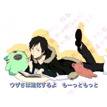Durarara 3way standoff Orihara Izaya Cosplay Costume and Wig Free Shipping for Halloween and Christmas
