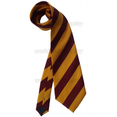 Harry Potter Gryffindor Delux Wide Cosplay Necktie Free Shipping for Halloween and Christmas