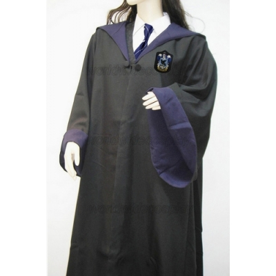 Ravenclaw Cosplay Robe and Badge from Harry Potter Free Shipping for Halloween and Christmas