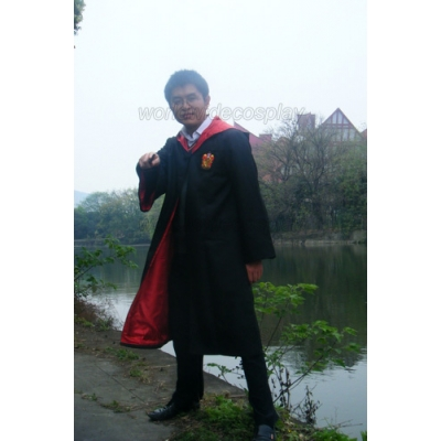 Free Shipping Harry Potter Gryffindor Cosplay Robe Sweater Shirt Harry Potter Magic Wand Custom Made