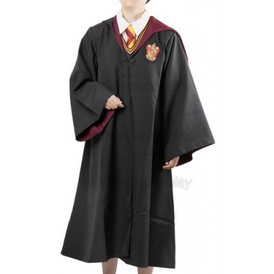 Harry Potter Griffindor Cosplay Robe Vest Shirt Wide Necktie Free Shipping for Halloween and Christmas