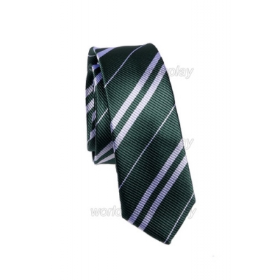 Slytherin House Cosplay Necktie from Harry Potter Free Shipping for Halloween and Christmas