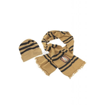 Harry Potter Hufflepuff House Cosplay Hat Scarf Narrow Free Shipping for Halloween and Christmas
