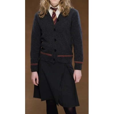 Free Shipping Harry Potter Gryffindor Hermione Granger Elder Cosplay Cardigan Skirt Uniform Custom Made for Halloween and Christmas