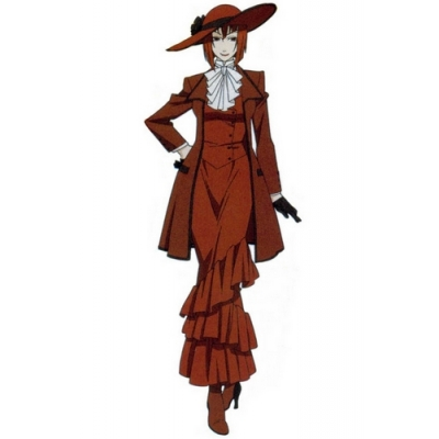 Free Shipping Black Butler Kuroshitsuji Madam Red Angelina Durless Cosplay Costume for Halloween and Christmas