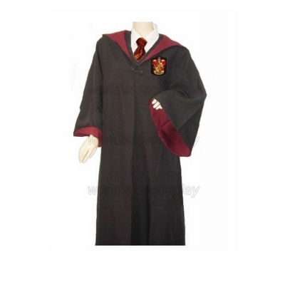 Harry Potter Gryffindor Cosplay Robe Shirt Ron Weasley Glowing Magic Wand Free Shipping for Halloween and Christmas