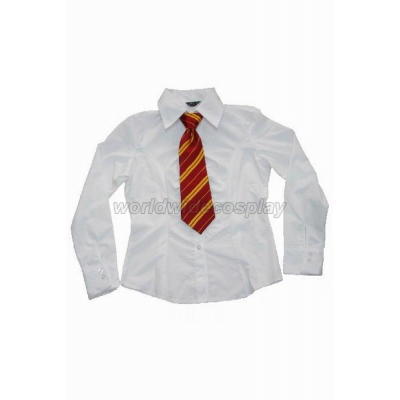 Gryffindor House Cosplay Shirt and Necktie from Harry Potter Free Shipping Custom Made for Halloween and Christmas