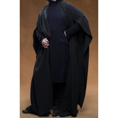 Professor Severus Snape Cosplay Cloak coat shirt wand from Harry Potter Free Shipping