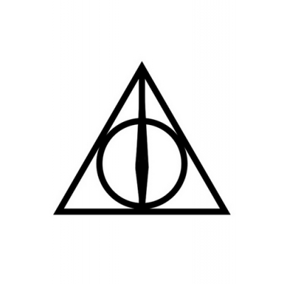Harry Potter The Deathly Hallows Cosplay Tatoo for Halloween and Christmas