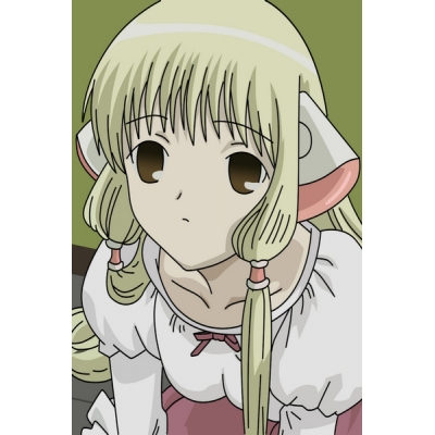 Chobits Chii Cosplay Wig and Earmuff Free Shipping for Halloween and Christmas