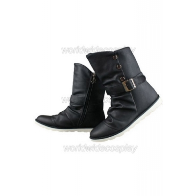 Final Fantasy XIII Sazh Katzroy Cosplay Boots for Halloween and Christmas