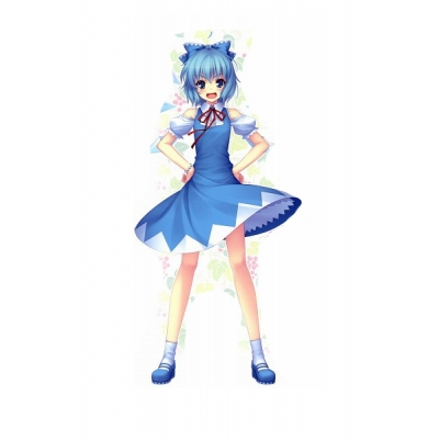 Free Shipping Touhou Project Cirno Cosplay Costume for Halloween and Christmas