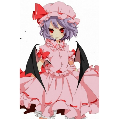Touhou Project Remilia Scarlet Cosplay Costume Free Shipping Custom Made for Halloween and Christmas