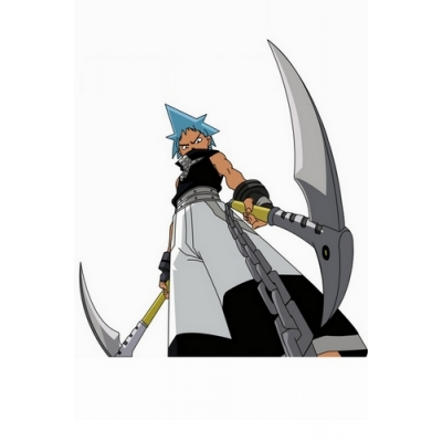 Free Shipping Soul Eater Black Star Cosplay Costume Custom Made for Halloween and Christmas