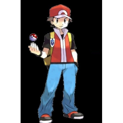 Pokemon Ash Ketchum Red and Blue Cosplay Costume Free Shipping for Halloween and Christmas