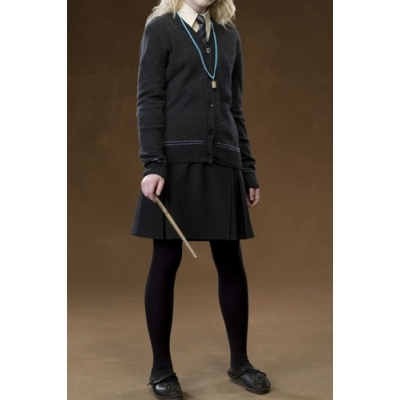 Free Shipping Harry Potter Ravenclaw Luna Lovegood Cosplay Cardigan Skirt Necktie Custom Made for Halloween and Christmas
