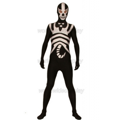 Black White Scorpion King Lycra Spandex Cosplay Zentai Body Suit Free Shipping for Halloween and Christmas