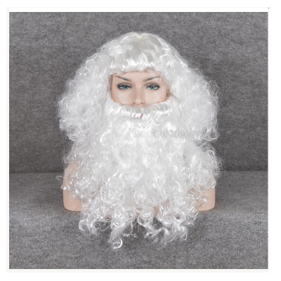 Santa Claus Cosplay Wig and Beard Free Shipping for Halloween and Christmas