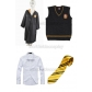 Free Shipping Harry Potter Hufflepuff Cosplay Robe Vest Shirt Necktie Badge for Halloween and Christmas