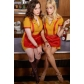 2 Broke Girls Caroline Max Cosplay Working Uniform Free Shipping for Halloween and Christmas