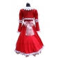 Free Shipping Black Butler Kuroshitsuji Elizabeth Middleford Red Cosplay Costume for Halloween and Christmas