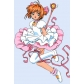 Free Shipping Card Captor Sakura Kinomoto Cosplay Dress Custom Made for Halloween and Christmas