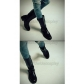 Final Fantasy XIII Sazh Katzroy Delux Cosplay Boots for Halloween and Christmas