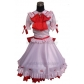 Free Shipping Touhou Project Remilia Scarlet Delux Cosplay Costume and Wig for Halloween and Christmas