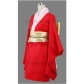 Free Shipping Gintama Kagura Red Cosplay Kimono Wig for Halloween and Christmas