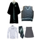 Free Shipping Harry Potter Slytherin Pansy Cosplay Robe Vest Shirt Skirt Necktie Badge for Halloween and Christmas