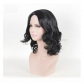 Black Curly Fashion Hair Wig Shoulder Length Free Shipping for Halloween and Christmas
